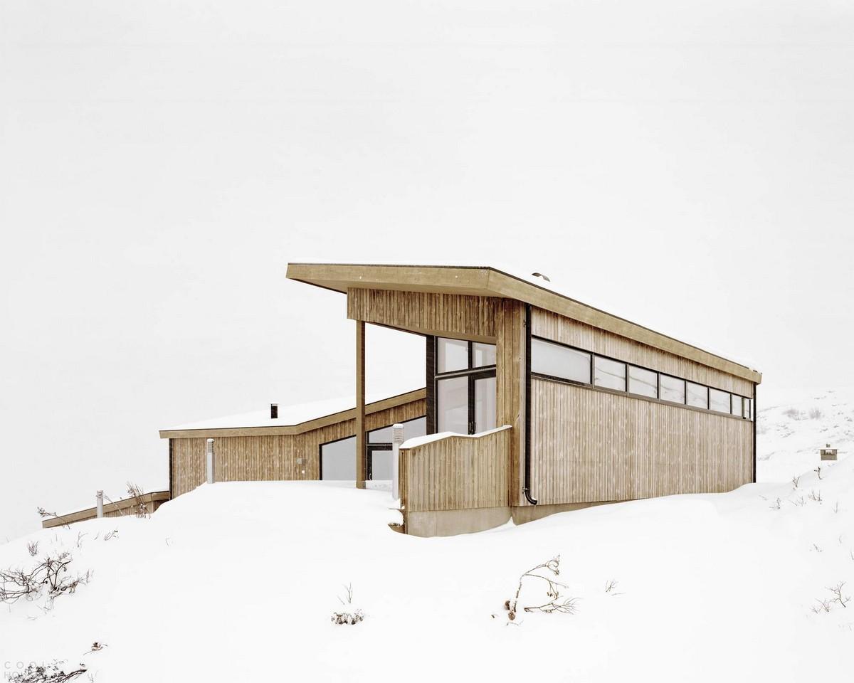 Сборный домик в горах Норвегии