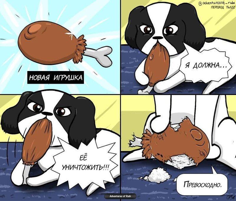 17 комиксов о жизни собачки Руби