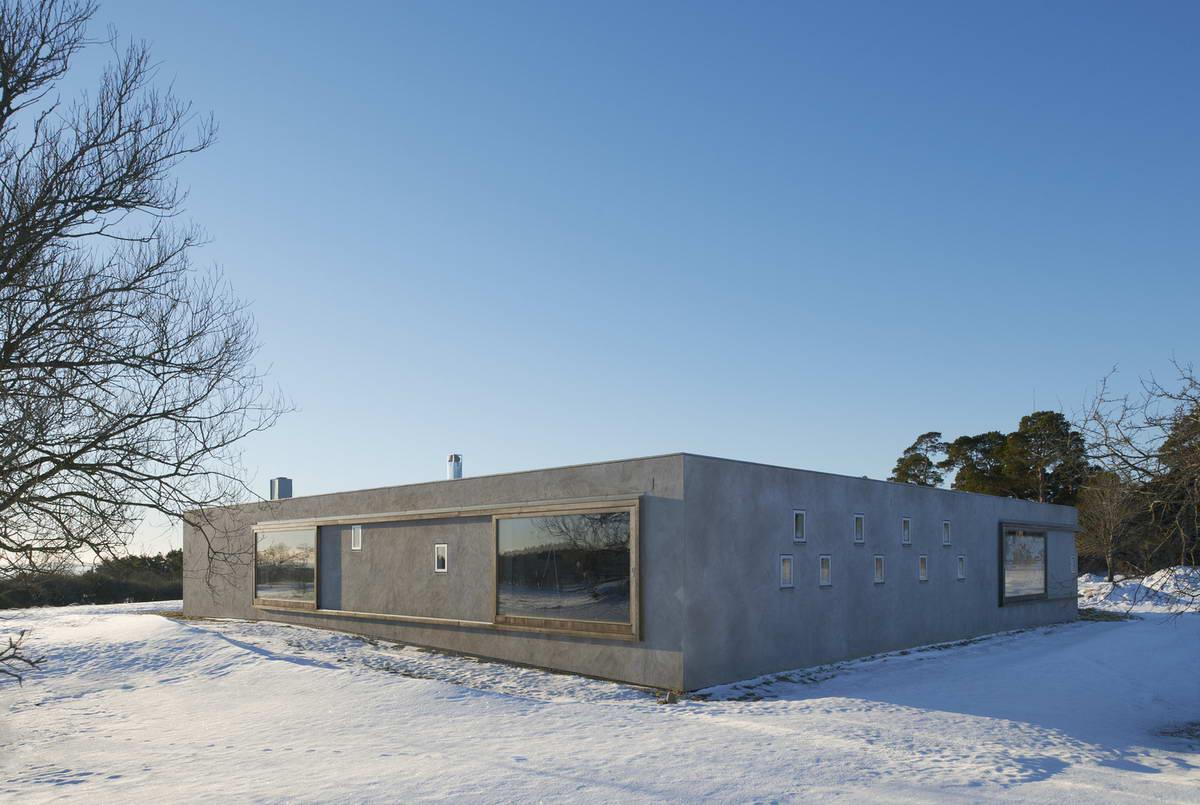 Минималистский дом на острове в Балтийском море