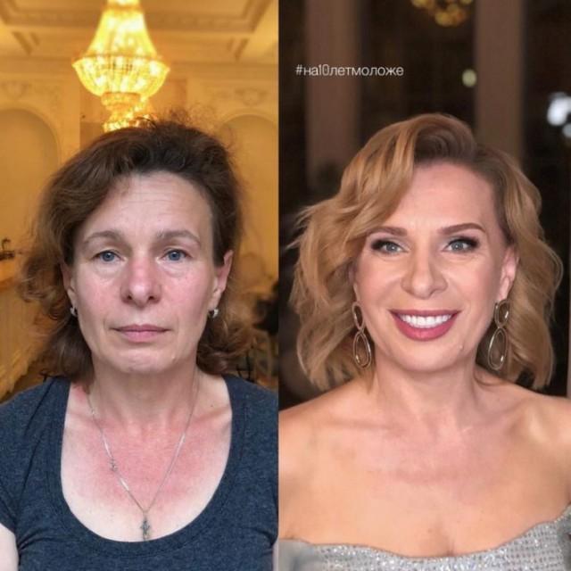 Магия современного макияжа: до и после