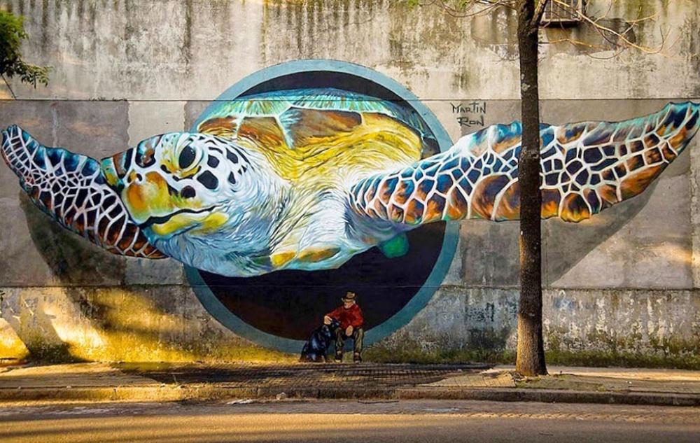 18 примеров крутых стрит-арт-работ со всего мира
