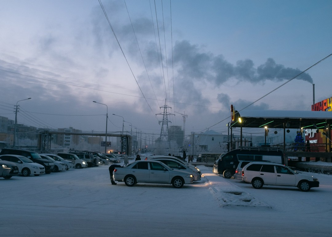 Холодный сибирский город Якутск