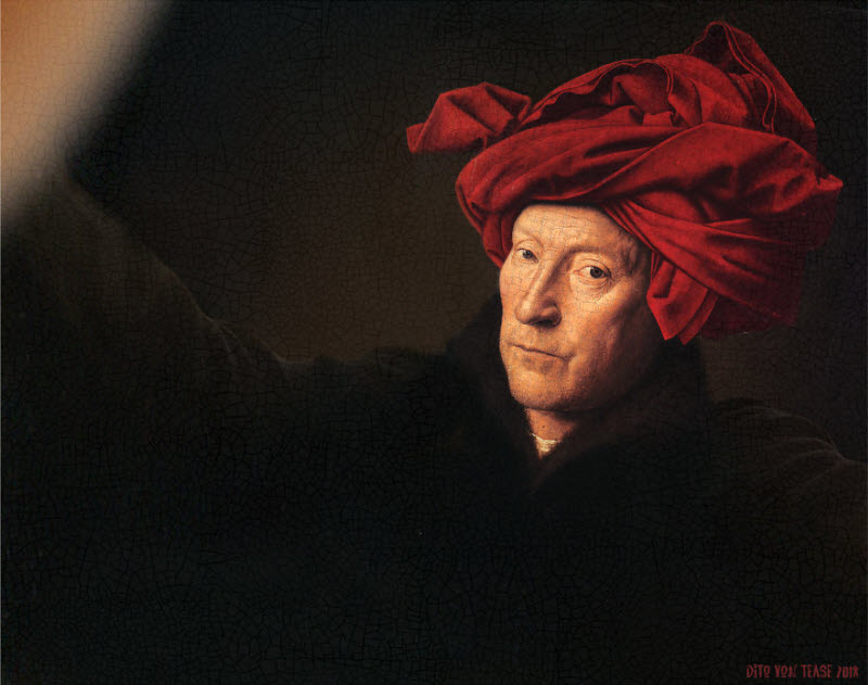 Если бы персонажи известных классических картин открыли для себя селфи