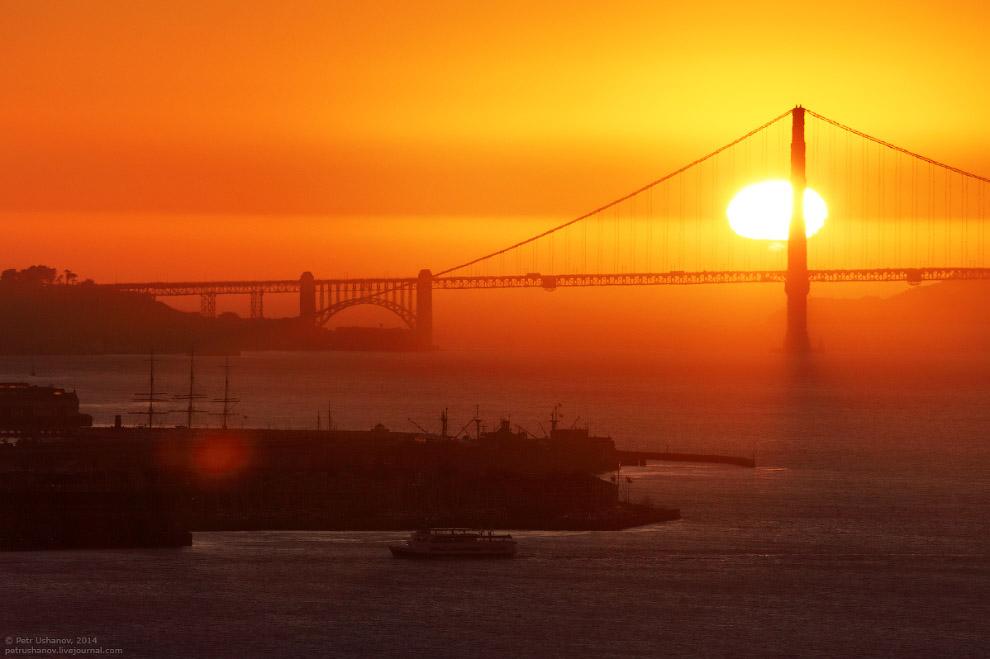 Сан-Франциско — город мостов и туманов в США