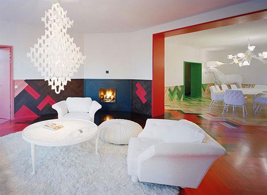 Яркая цветная квартира в Стокгольме