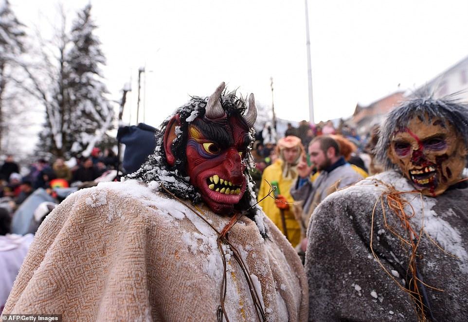 Языческий фестиваль в македонской деревне