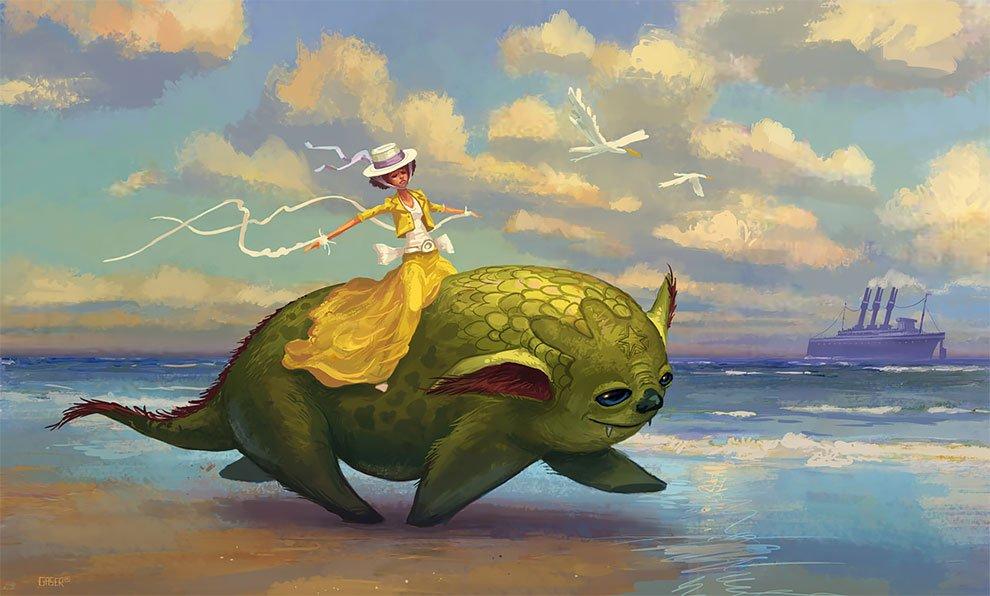 Фантастические миры от иллюстратора Мэтта Гейзера