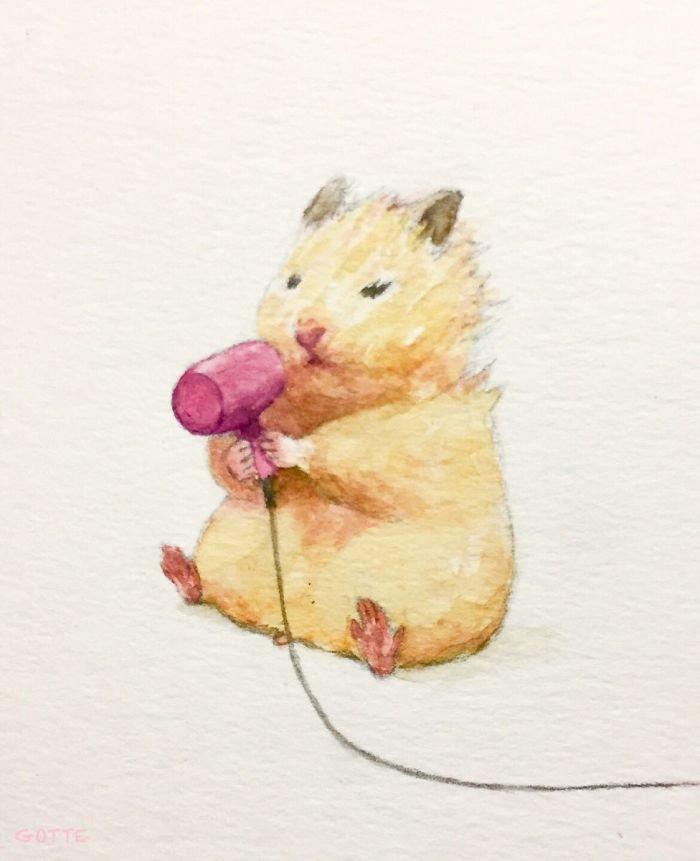 Рисунки хомячков милые
