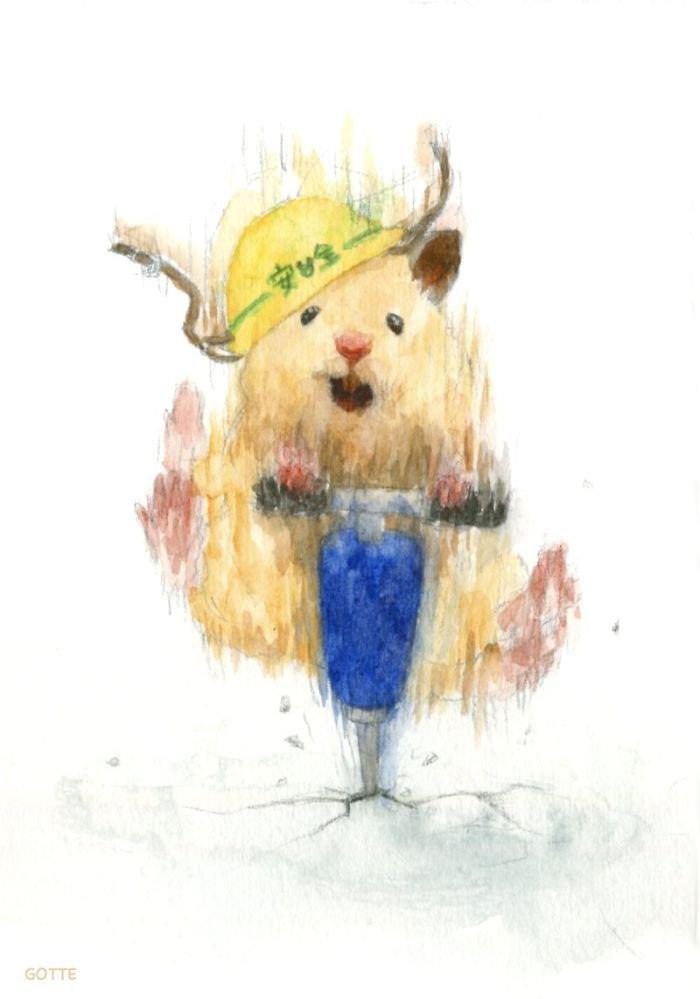 Акварельные рисунки хомяка, ведущего обычную человеческую жизнь