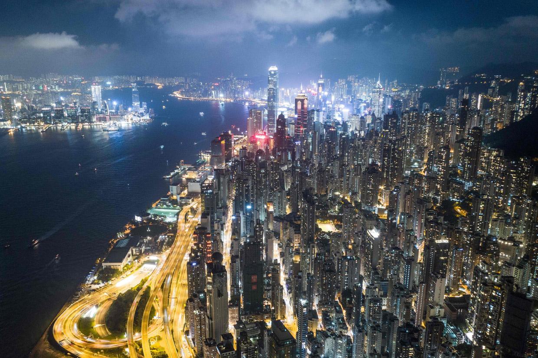 Гонконг с высоты в фотографиях