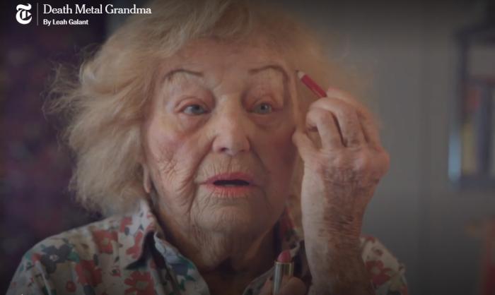 97-летняя женщина поет в метал-группе