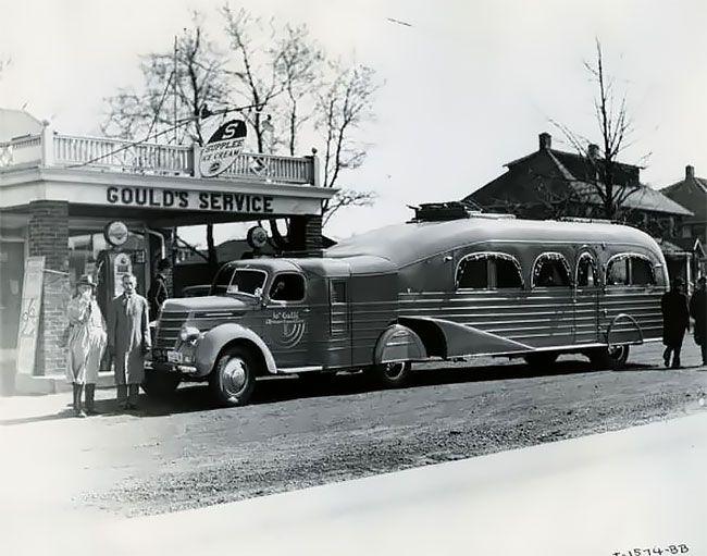 Роскошный уникальный автотрейлер 30-x годов прошлого века