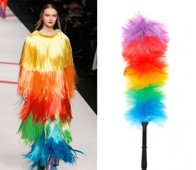 Модные дизайнерские вещи похожи на различные бытовые предметы