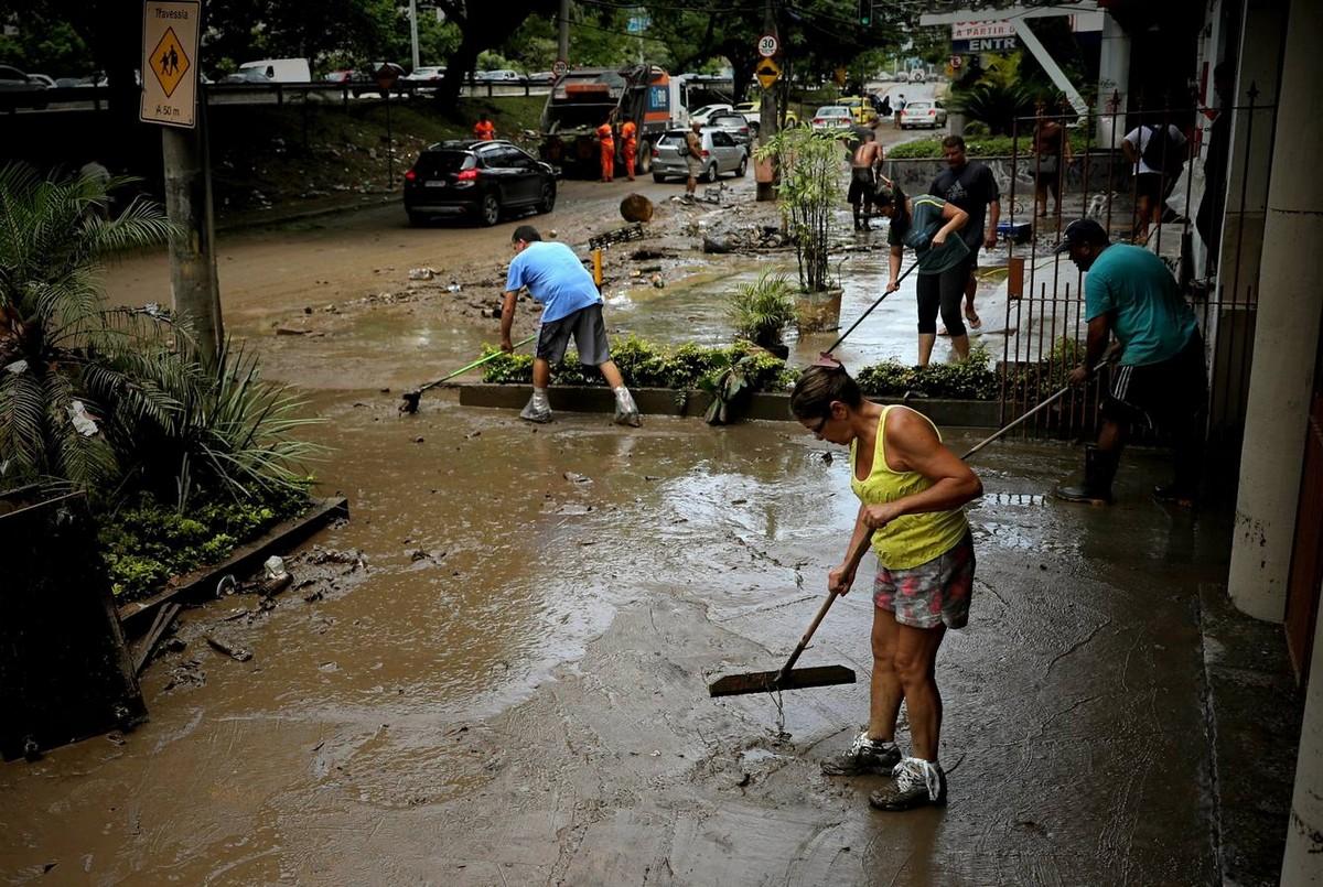 Последствия мощного шторма в Рио-де-Жанейро