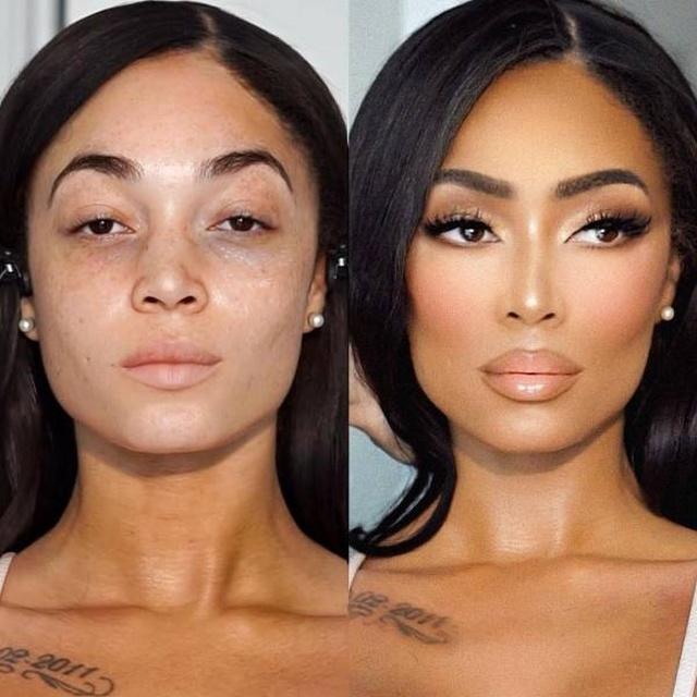 Магия макияжа на снимках: до и после