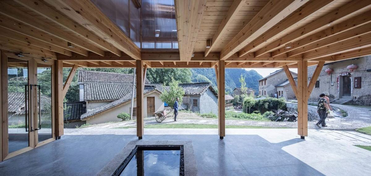 Книжный дом в китайской горной деревне