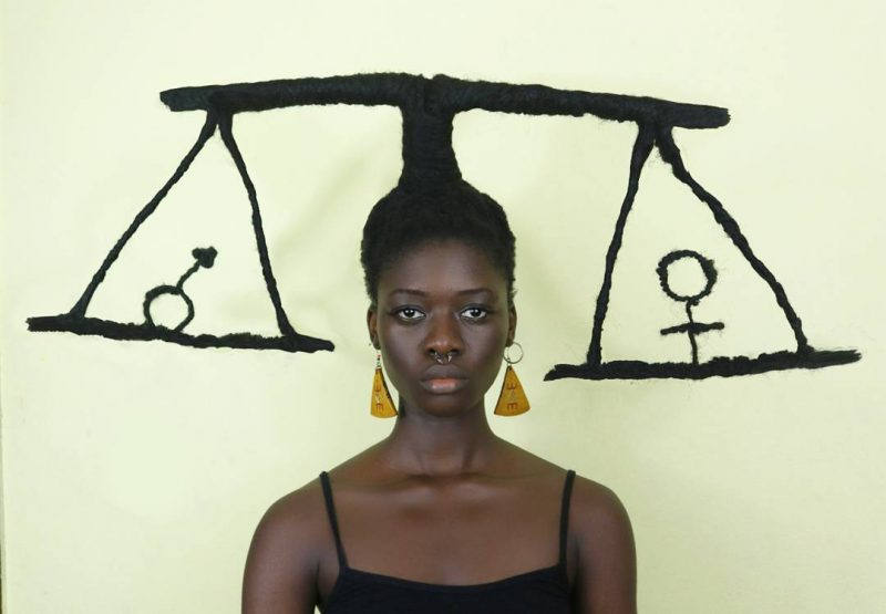Креативные скульптуры из волос от африканской художницы
