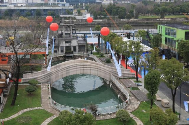 Бетонный мост, созданный при помощи метода 3D-печати