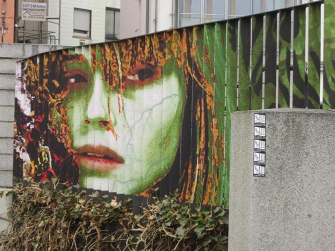 Стрит-арт на перилах в Германии