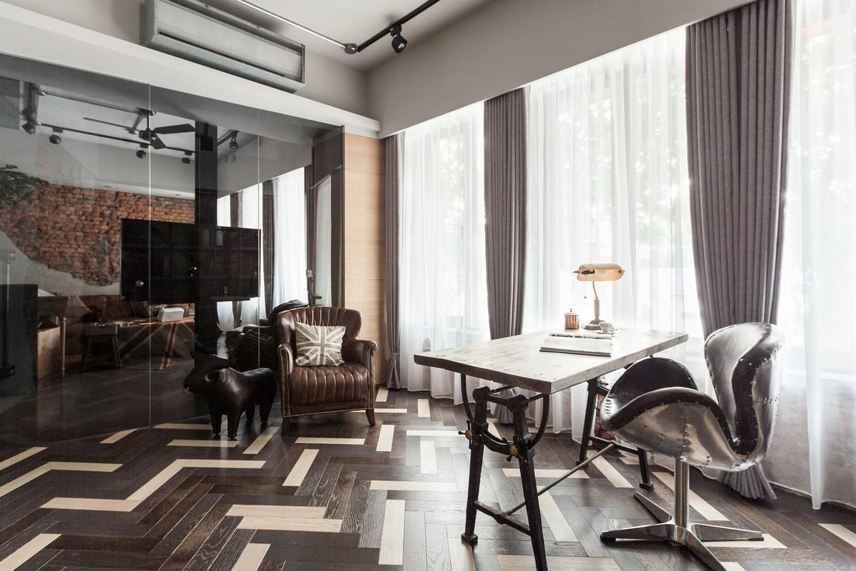Современный британский лофт в 40-летней тайваньской квартире