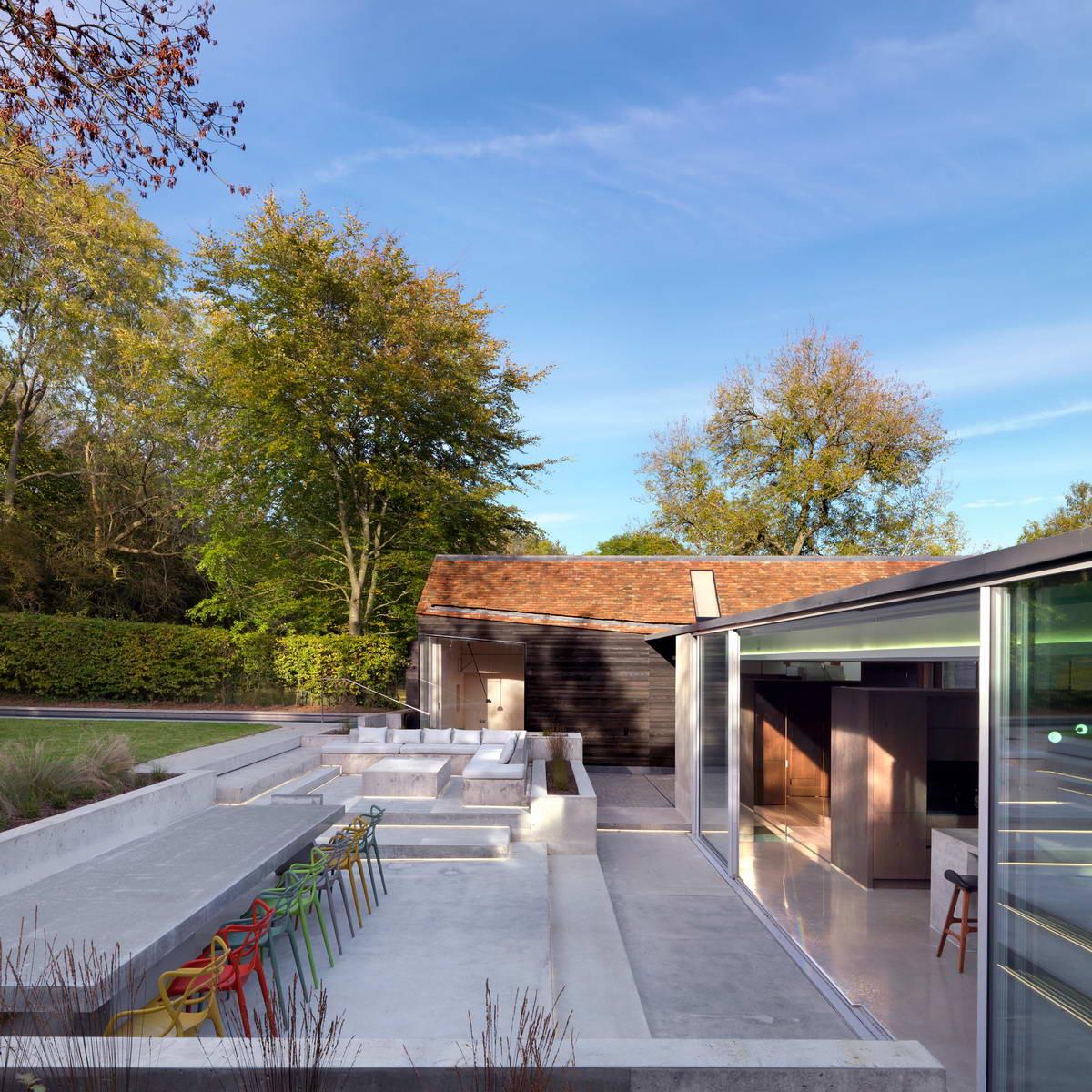 Переоборудованный сельский дом в Великобритании