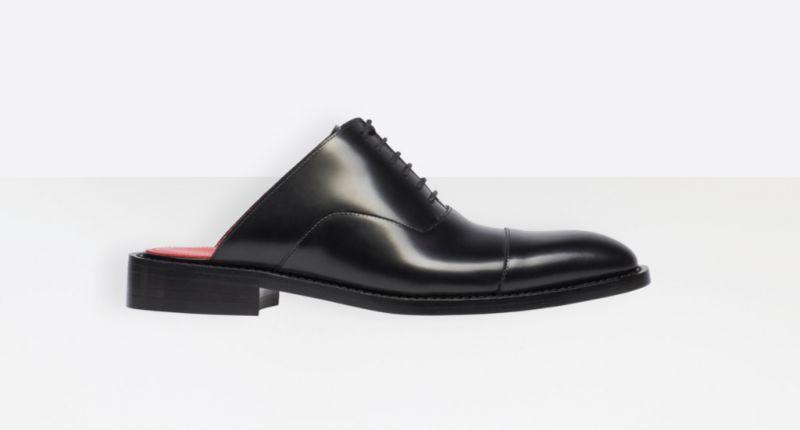 Модный гибрид туфель и шлепанцев