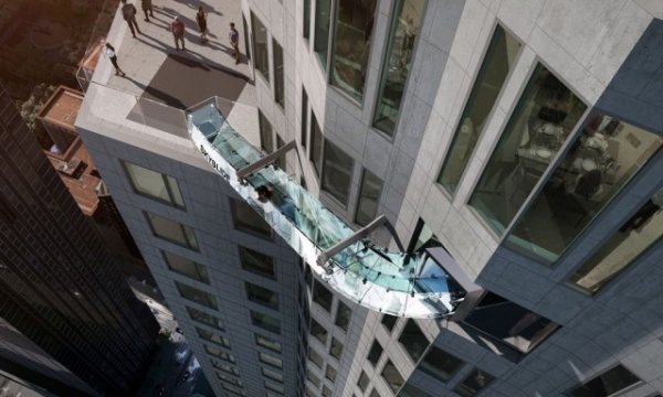 Необычный аттракцион на небоскребе в Лос-Анджелесе