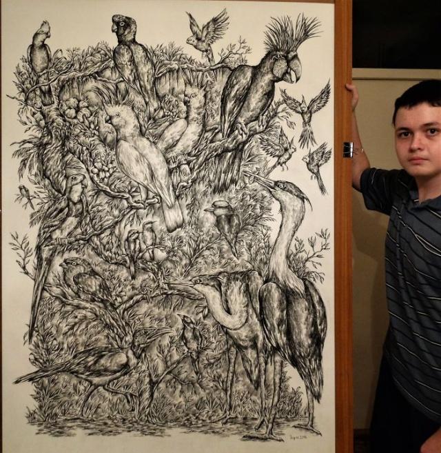 Прогресс юного художника с годами