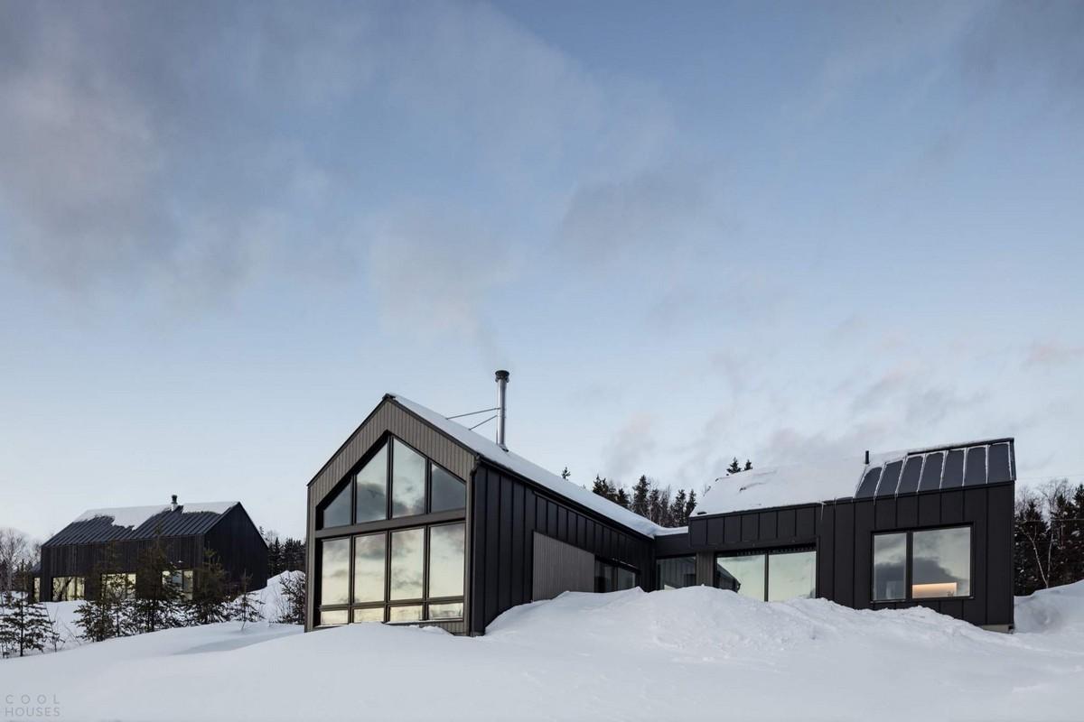 Шале с современным деревенским дизайном в Канаде