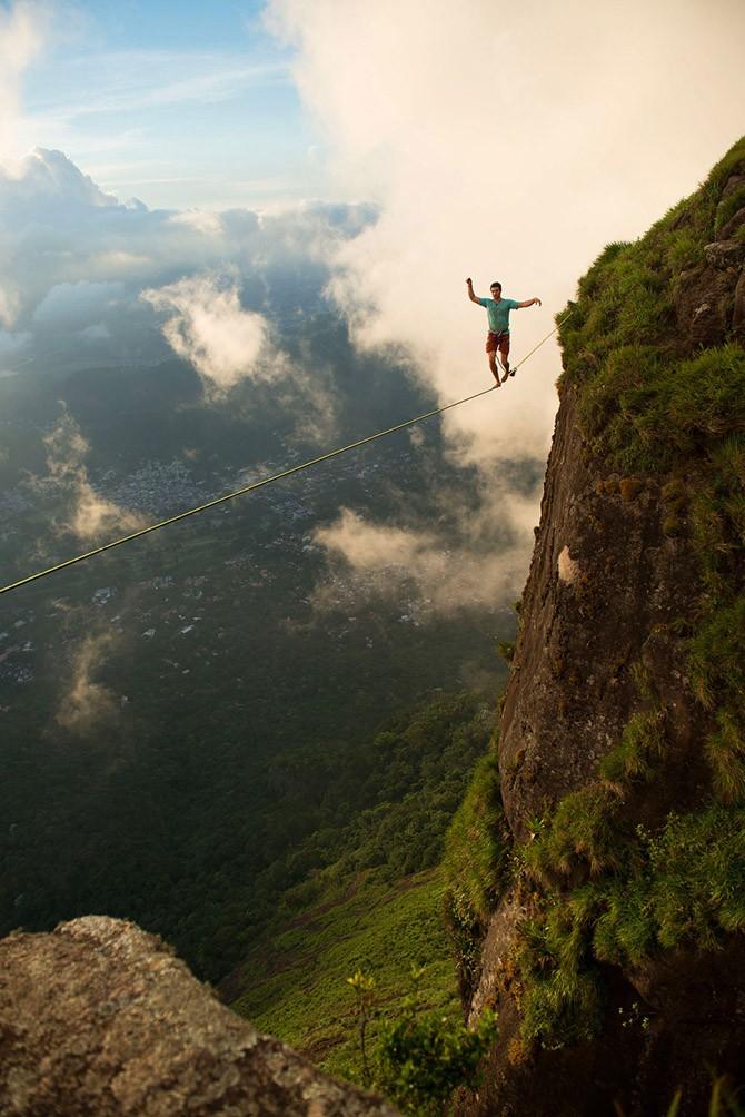 Слэклайн над Рио-де-Жанейро