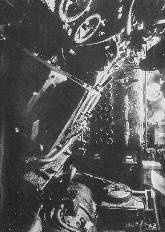 Интерьер немецкой подводной лодки времен Первой мировой войны