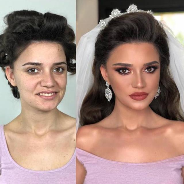Свадебный макияж: чудеса на снимках до и после