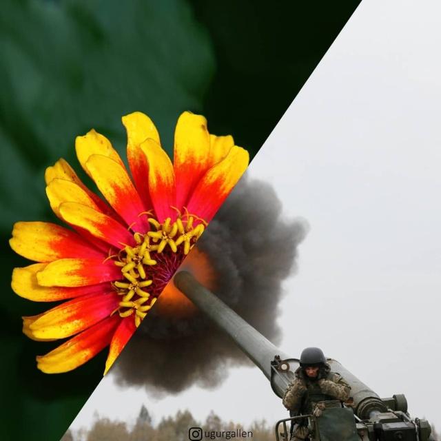 Лицо войны - серия работ Угура Галлена