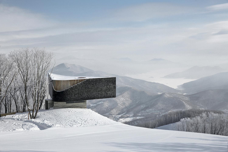 Смотровая площадка на горнолыжном курорте в Китае