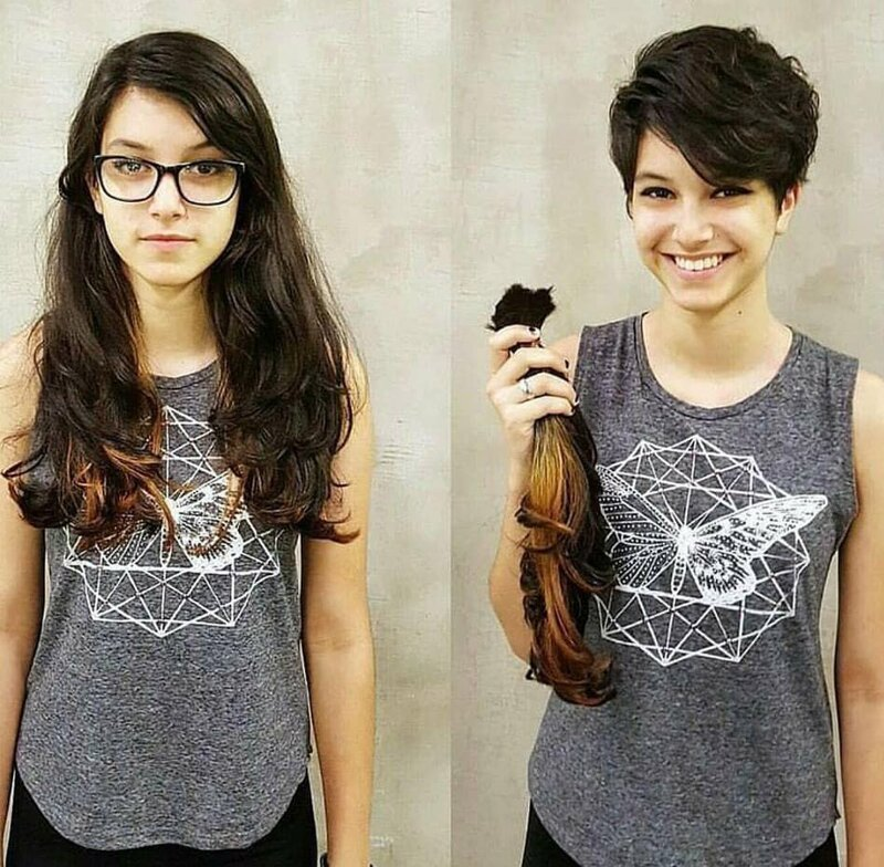 Девушки, которые решили распрощаться с длинными волосами