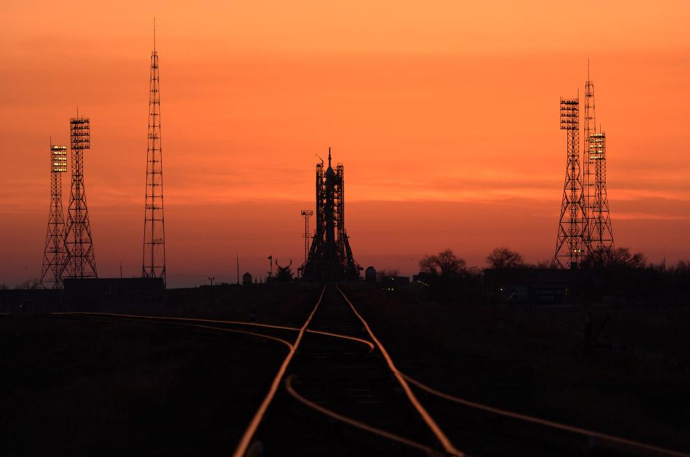 Старт космического корабля Союз МС-12