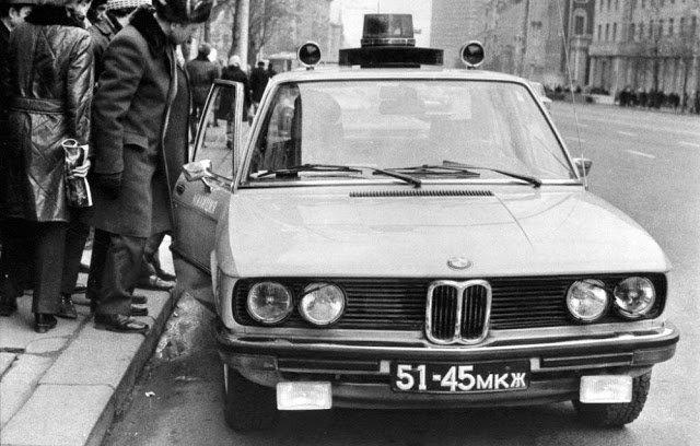 Иномарки в милиции СССР