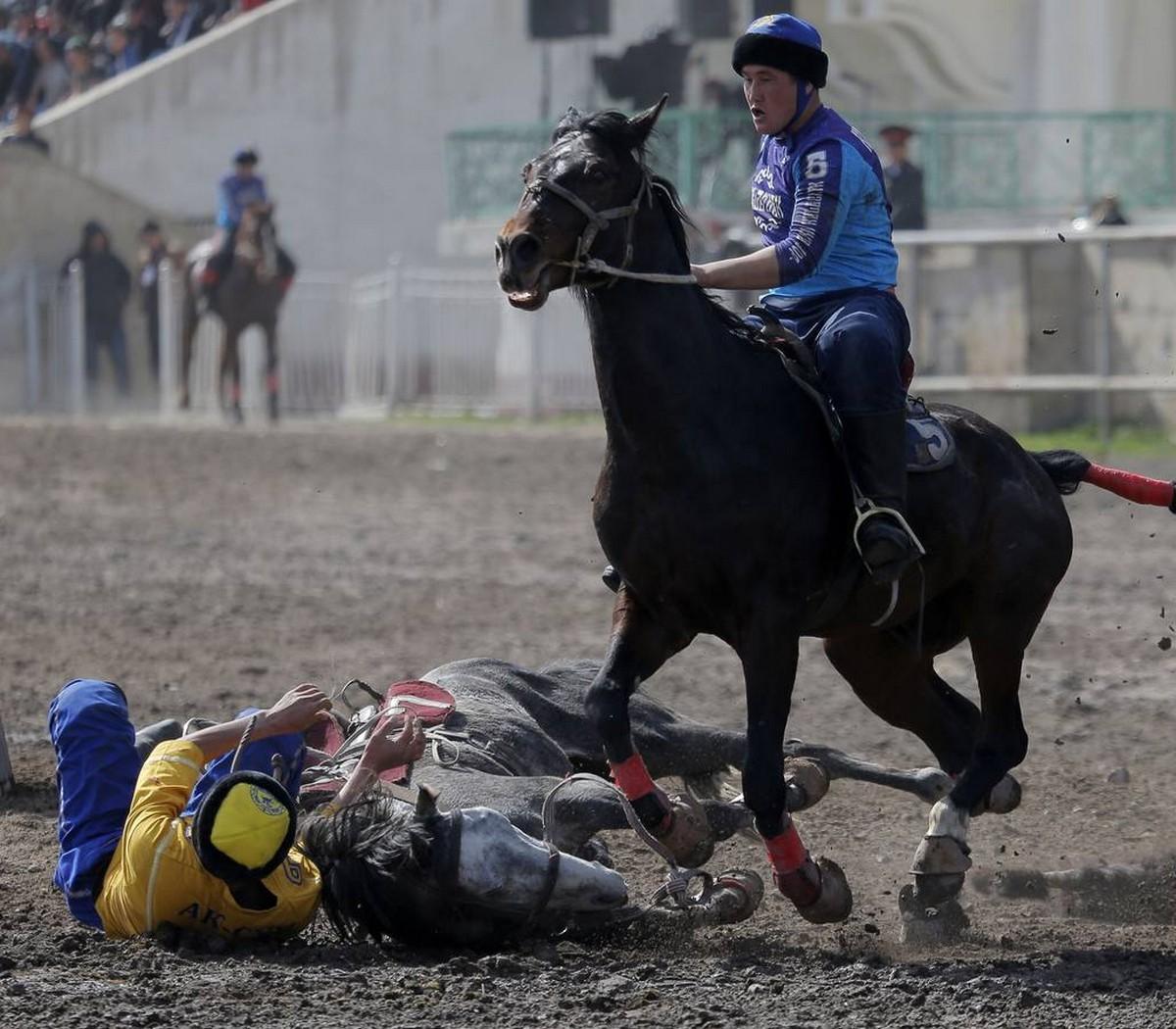 Соревнования Кок-бору в Бишкеке