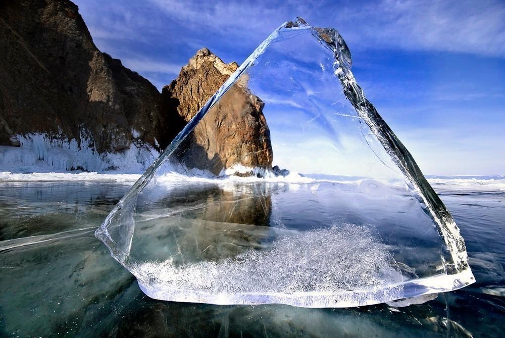 О прозрачности льда и стекла