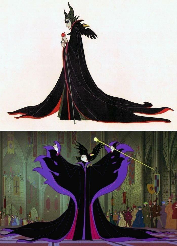 25 оригинальных эскизов известных диснеевских персонажей