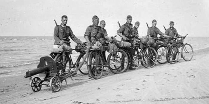 Подвиги велосипедных войск на войне