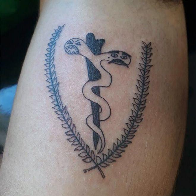 Бразильская художница делает отвратные татуировки, но у нее полно клиентов