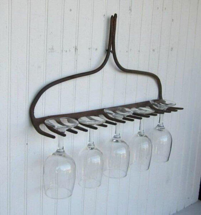 Крутые идеи, чтобы использовать старый садовый инвентарь