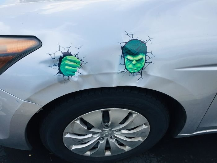 Творческий подход к ремонту вмятин и царапин на авто