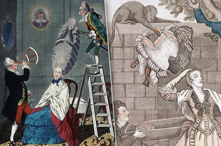 Модные европейские прически прошлых времен