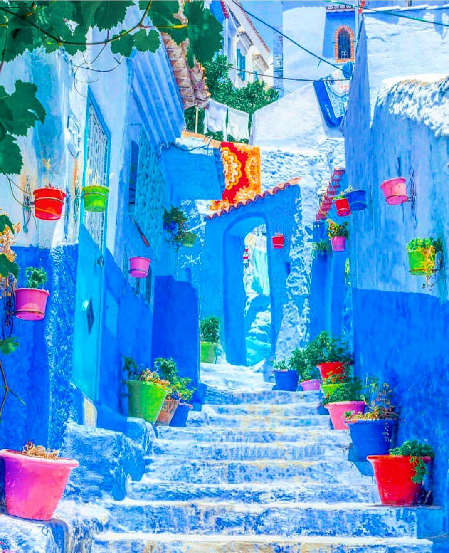 Рай инстаграмщиков: синий город Шефшауэн