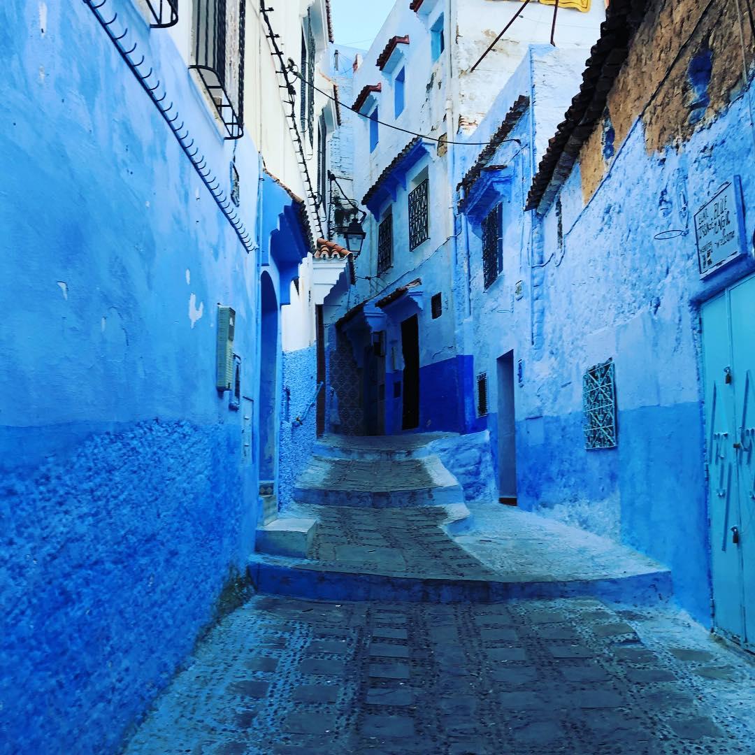 Paradise instamrschikov: kék város Chefchaouen