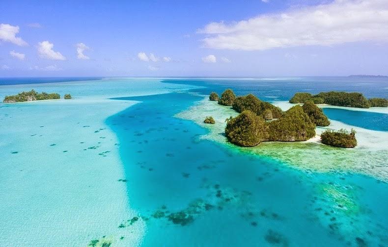 Csodálatos Palau-korall-szigetek