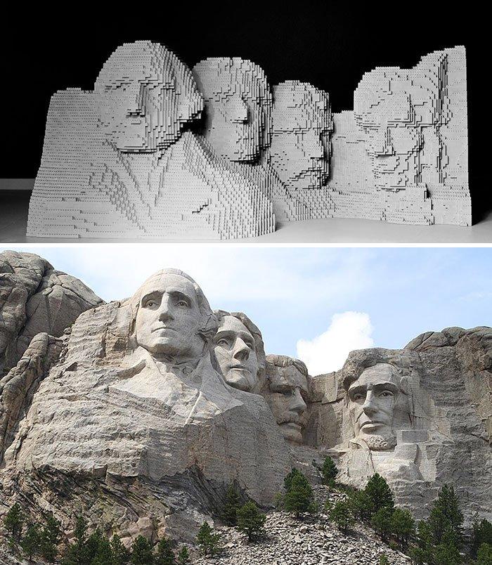 Знаменитые произведения искусства, воссозданные из LEGO