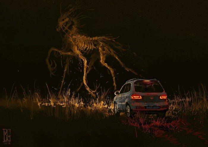 15 иллюстраций, которые будто из самых жутких ночных кошмаров